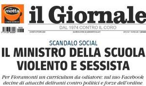 """Il Giornale contro il ministro Fioramonti per dei post del 2013: """"Violento e sessista"""""""