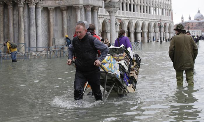 """Venezia, l'acqua alta fa danni record. Zaia: """"Devastazione apocalittica"""". Conte: """"Mose pronto nel 2021"""""""
