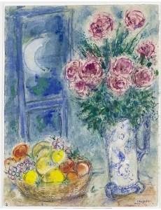 Marc Chagall Senza titolo (natura morta con frutta e fiori)