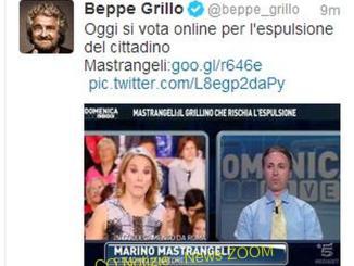 grilloTwitter Beppe Grillo: oggi si vota per espellere un cittadino Politica Prima Pagina