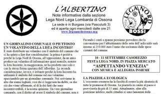albertino2010-324x189 Ossona, Lega Nord: nessuna alleanza con Sergio Garavaglia Politica Prima Pagina
