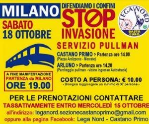 Ossona con Matteo Salvini Contro Mare Nostrum