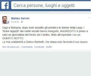 A Bologna hanno aggredito Matteo Salvini e un giornalista: la Lega Nord si arrabbia sul serio