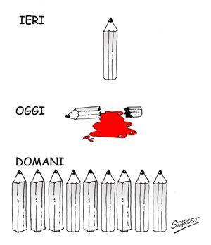 VIGNETTA-2015 Charlie Hebdo: il feroce attacco islamico all'umorismo, visto da qua Piazza Litta Prima Pagina
