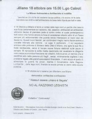 Corsico, la Lega Nord denuncia la violenza verbale di SEL