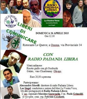 Radio Padania libera arriva a Ossona con un pranzo speciale