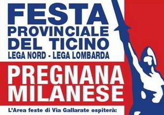 Matteo Salvini alla festa del Ticino a Pregnana Milanese