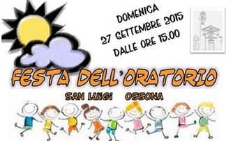 oratorio San Luigi Ossona, festa