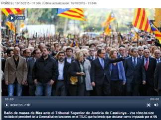 I giudici accusano artur mas in Catalogna