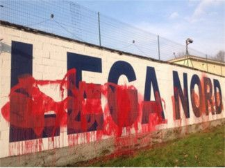 Marine le Pen Matteo Salvni a Milano