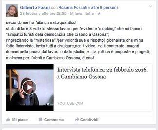 intervista di Gilberto Rossi