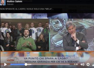 Matteo Salvini, furti in apaprtamento