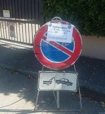 via Rimembranze cartello stradale