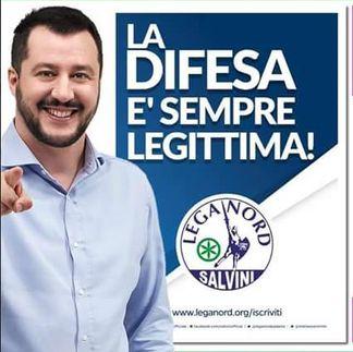 Legittima difesa, matteo Salvini