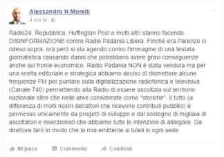 alessandro-morelli-324x227 Radio Padania venduta? Il direttore minaccia querele Piazza Litta Prima Pagina