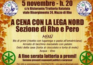 cena-rhopero-324x227 Si va a cena con la lega Nord di Rho e Pero Piazza Litta Prima Pagina