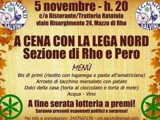 cena-rhopero Si va a cena con la lega Nord di Rho e Pero Piazza Litta (Ossona) Prima Pagina