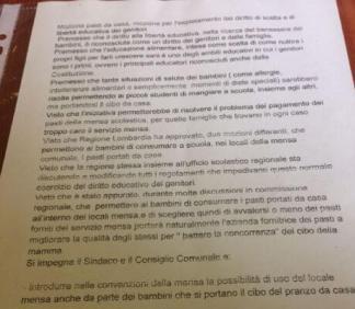 mozione-schiscetta-sergio-324x282 Educazione alimentare (ancora la schiscetta) Politica Prima Pagina