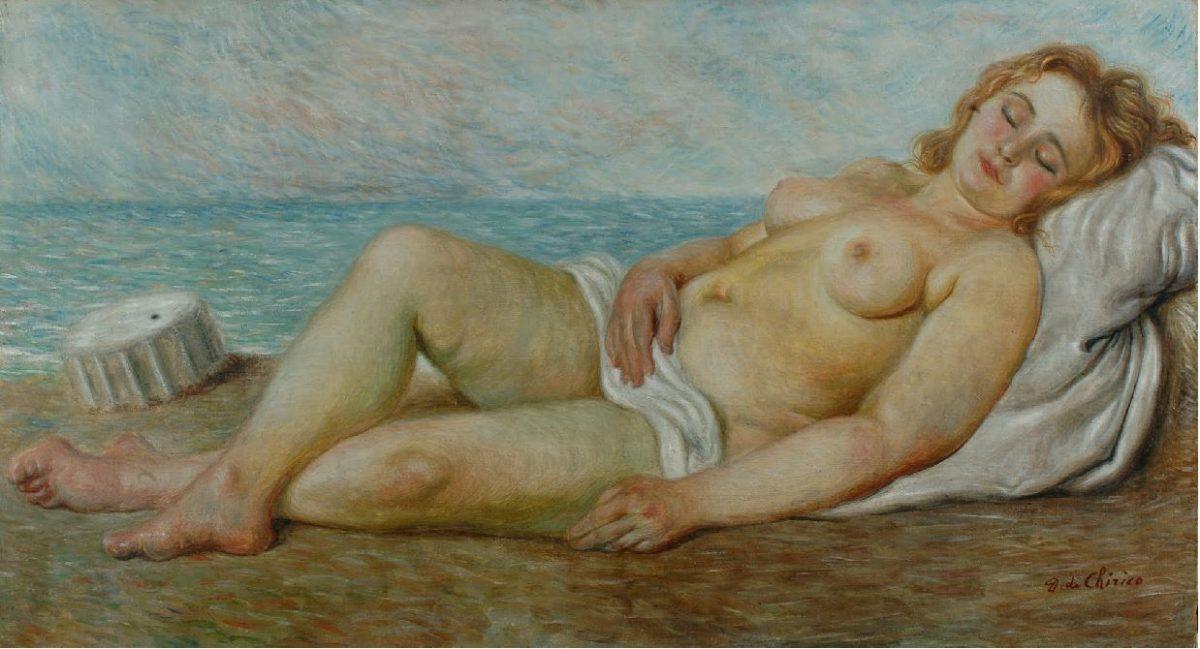 1931-Bagnante-al-sole-Arainna-addormentata Giorgio De Chirico a Milano, 50 anni dopo Eventi Storia e Cultura