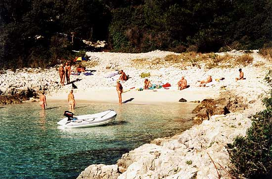 Fkk beach on island Losinj