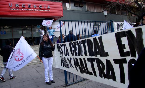 Trabajadores de la salud en Chile inician paro