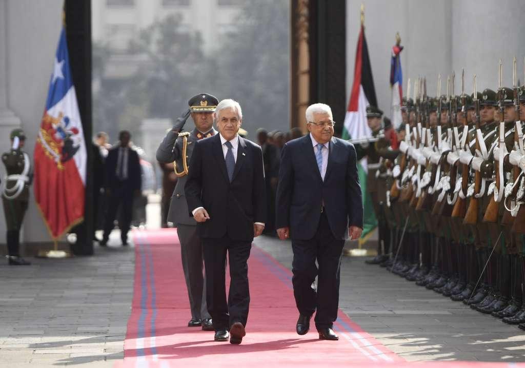 Visita oficial: Presidente Piñera recibe a su homólogo de Palestina, Mahmud Abás