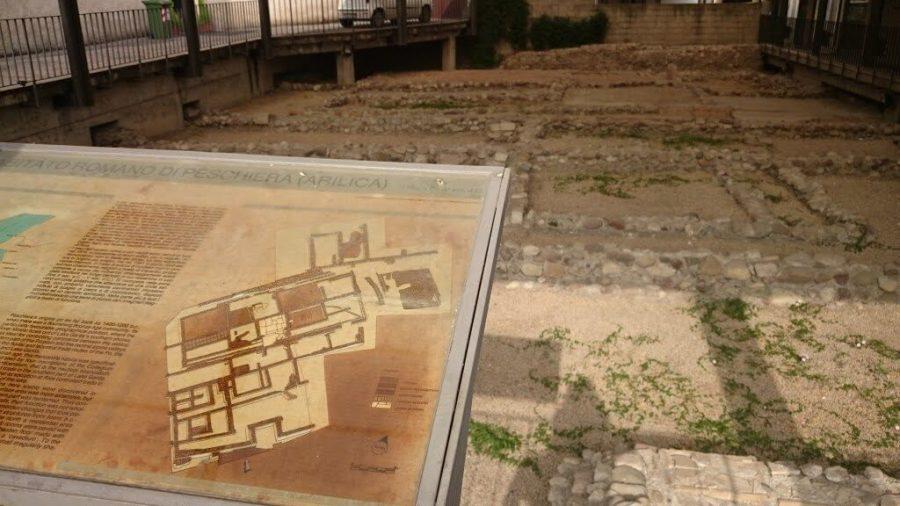 Mapa de las ruinas. Peschiera.