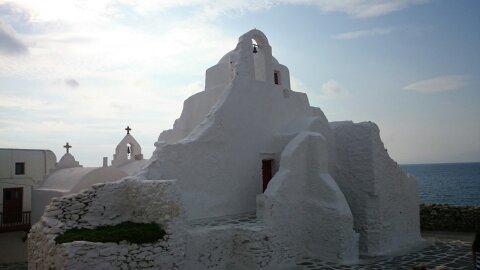 Qué ver en Mykonos. Panagia Paraportiani.