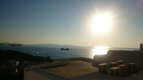 Un día en Mykonos. Atardecer.