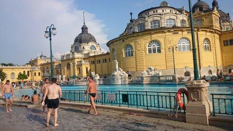 Media Maratón de Budapest y Balneario Szénchenyi
