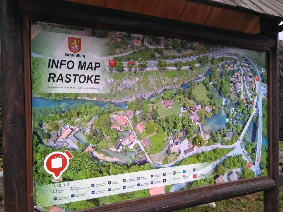 Mapa de Rastoke.