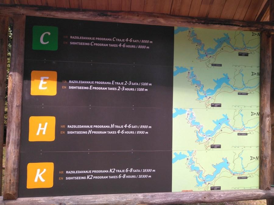 Parque Nacional de los Lagos Plitvice. Rutas