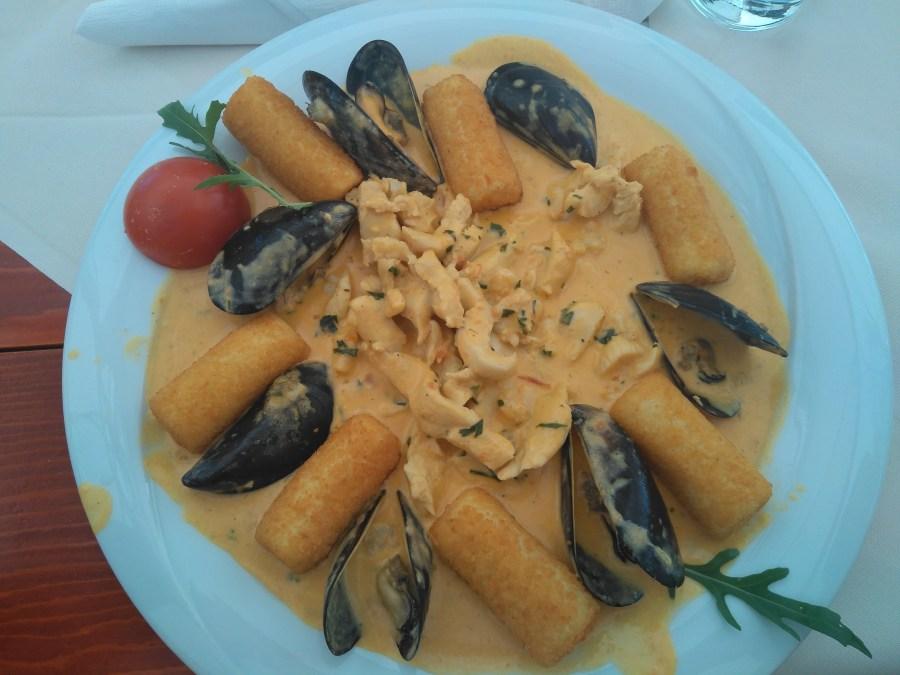 Sibenik y Trogir.Comida típica en Trogir. Croacia.