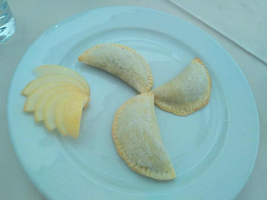 Comida típica en Trogir. Croacia.