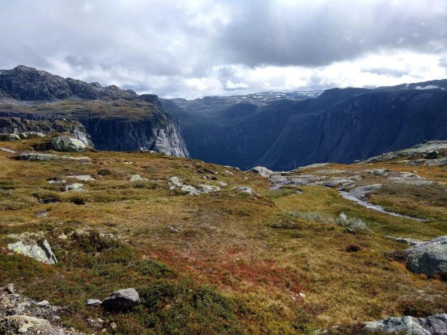 Lengua del Trol. Trolltunga. Noruega.