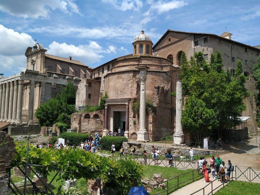 Basílica de los santos Cosme y Damián. Foro romano, Roma.