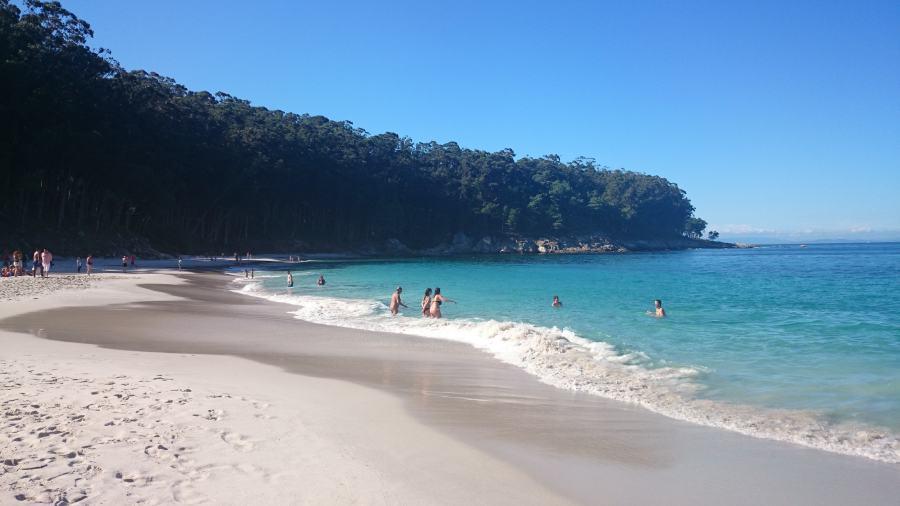 Playas islas Cíes. Praia de Figueiras.