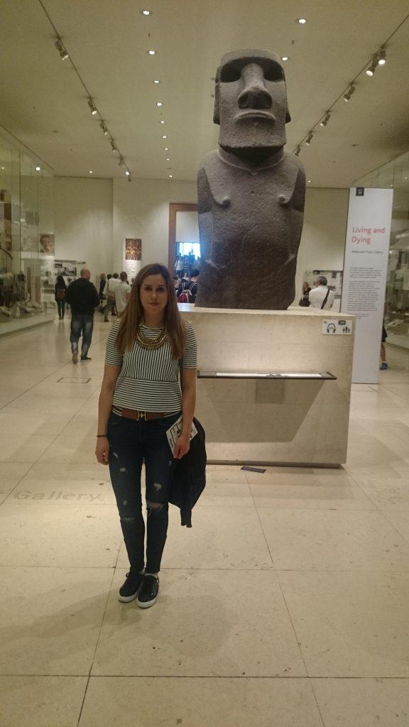 Guerrero Moai en el Museo Británico.