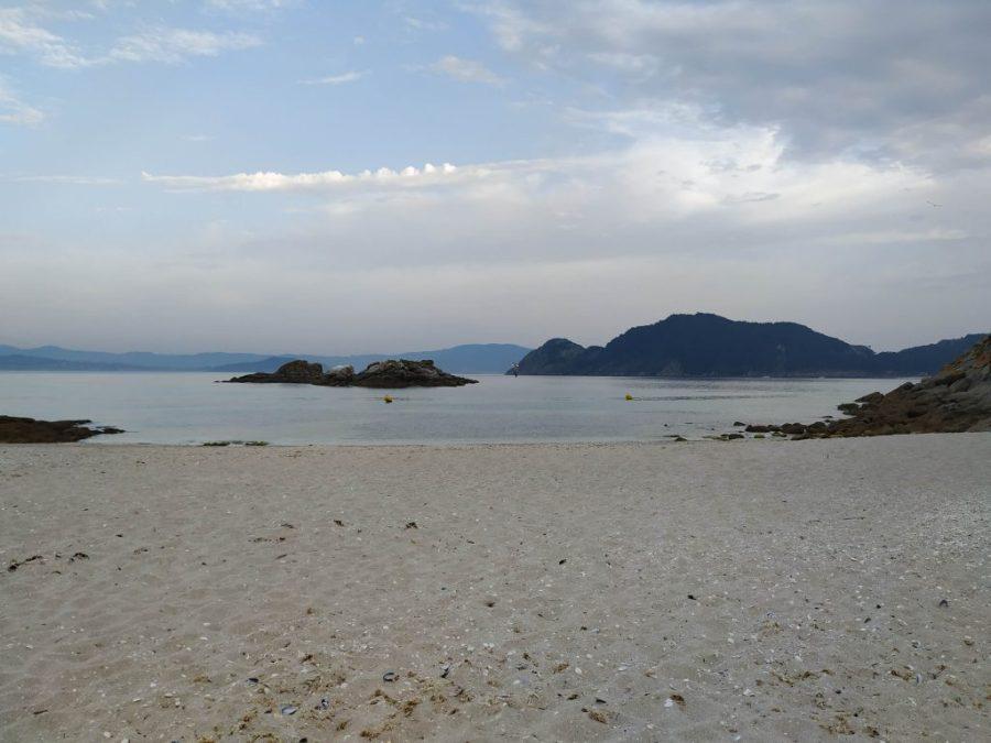 Playas islas Cíes. Praia dos Bólos.