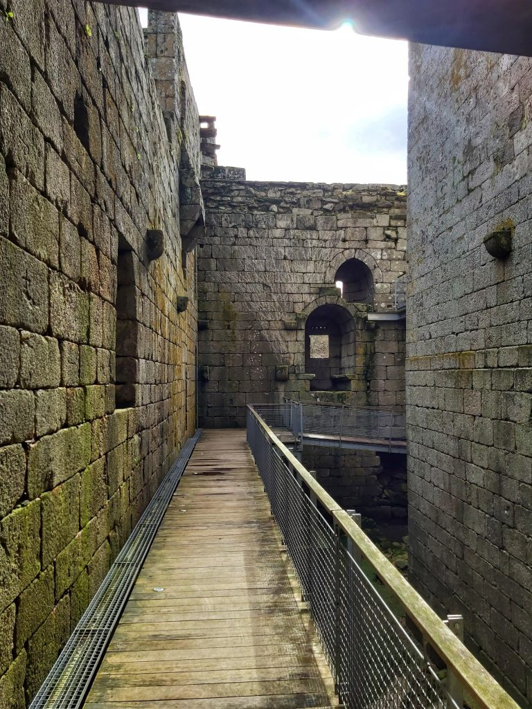Interior del castillo.