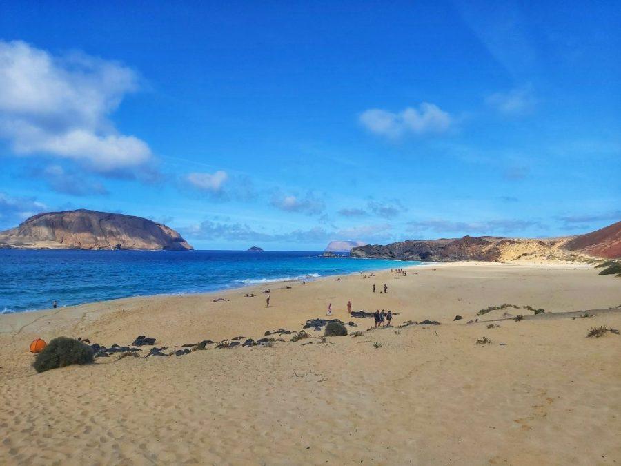 Playa de las Conchas en isla La Graciosa.