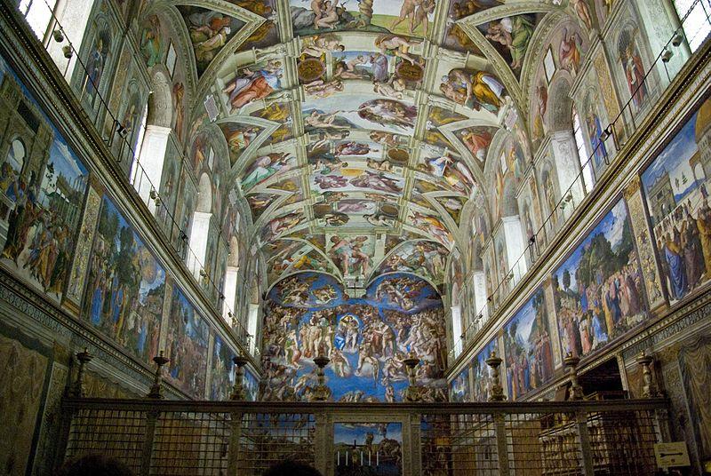 Capilla Sixtina de Miguel Ángel. Museos Vaticanos.