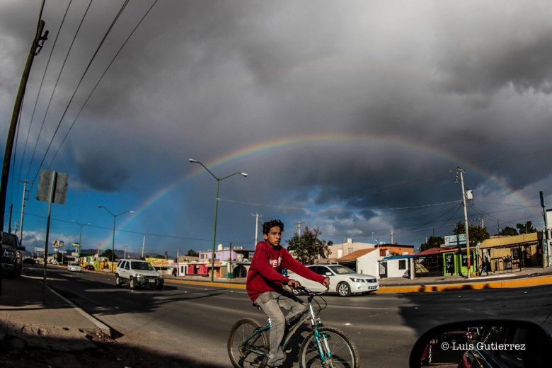 Arco Iris, arcoIris, Colores, cielo, clima, frio, nuebes Hermosillo Sonora a 8 enero 2016 Foto: Luis Gutierrez