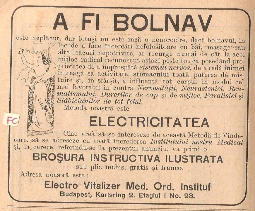 1910 din calendarul minervei