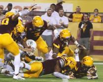 The Arizona State defense pounces on a loose ball. (Photo: Scotty Bara/WCSN)