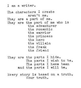 I am a writer.
