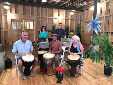 Afro-Cuban drumming by Master Yazid along with several of his fellow drummers