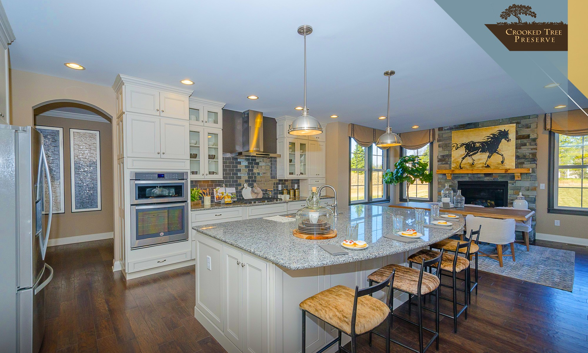 Fischer Homes Kitchen at Crooked Tree Preserve in Mason, Ohio