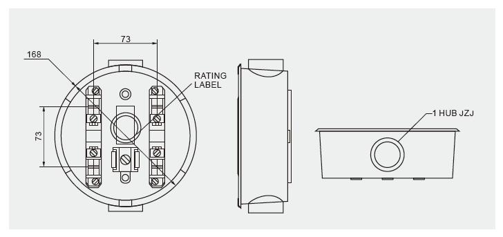 Die cast aluminum Round Meter Base Socket 100Amps Single
