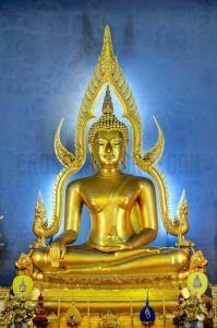 Golden Buddhas.